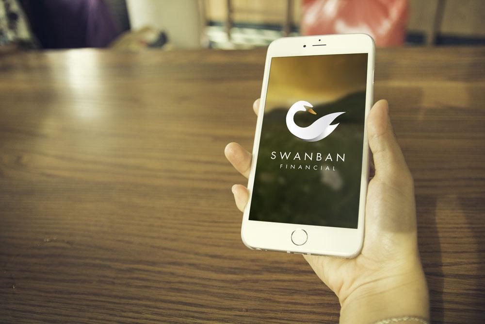 Swanban Financial Mobile Graphicsbyte Creative Media