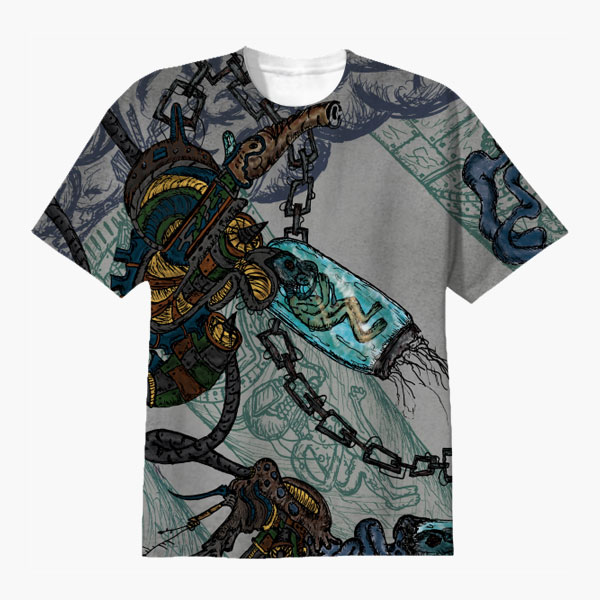 Alien Invision T-Shirt Graphicsbyte