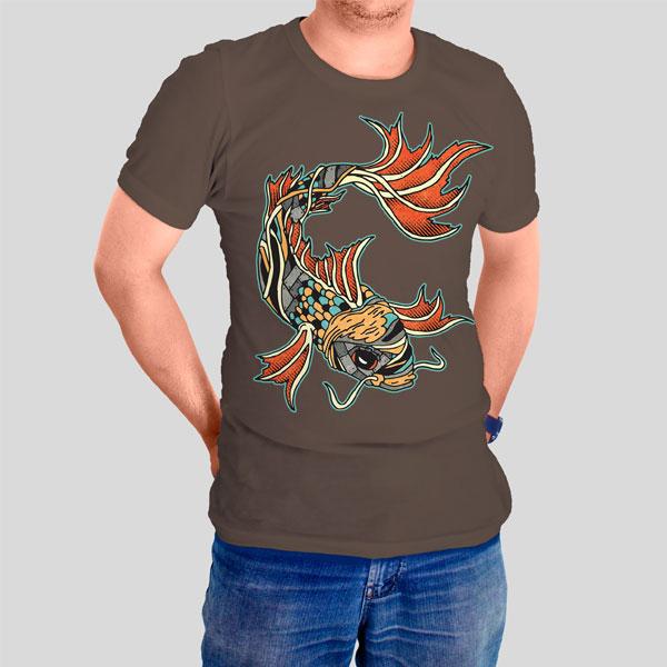 Biomechanical Koi Graphicsbyte t-shirt