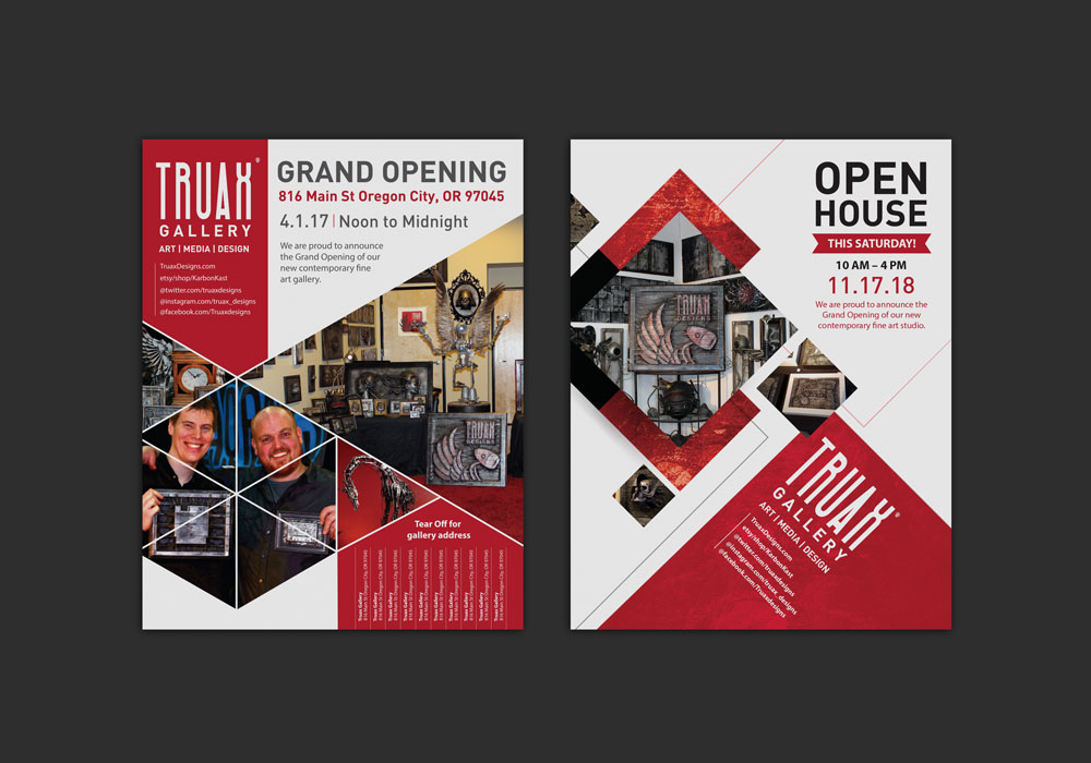 A4 Truax Designs Posters designed by Mark Boehly - Graphicsbyte Creative