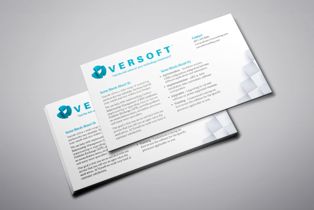 Versoft Consulting Flyers Graphicsbyte