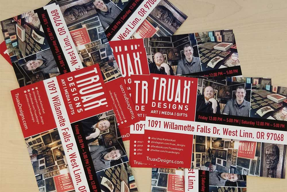 Truax Designs Gallery Flyers designed by Mark Boehly - Graphicsbyte Creative