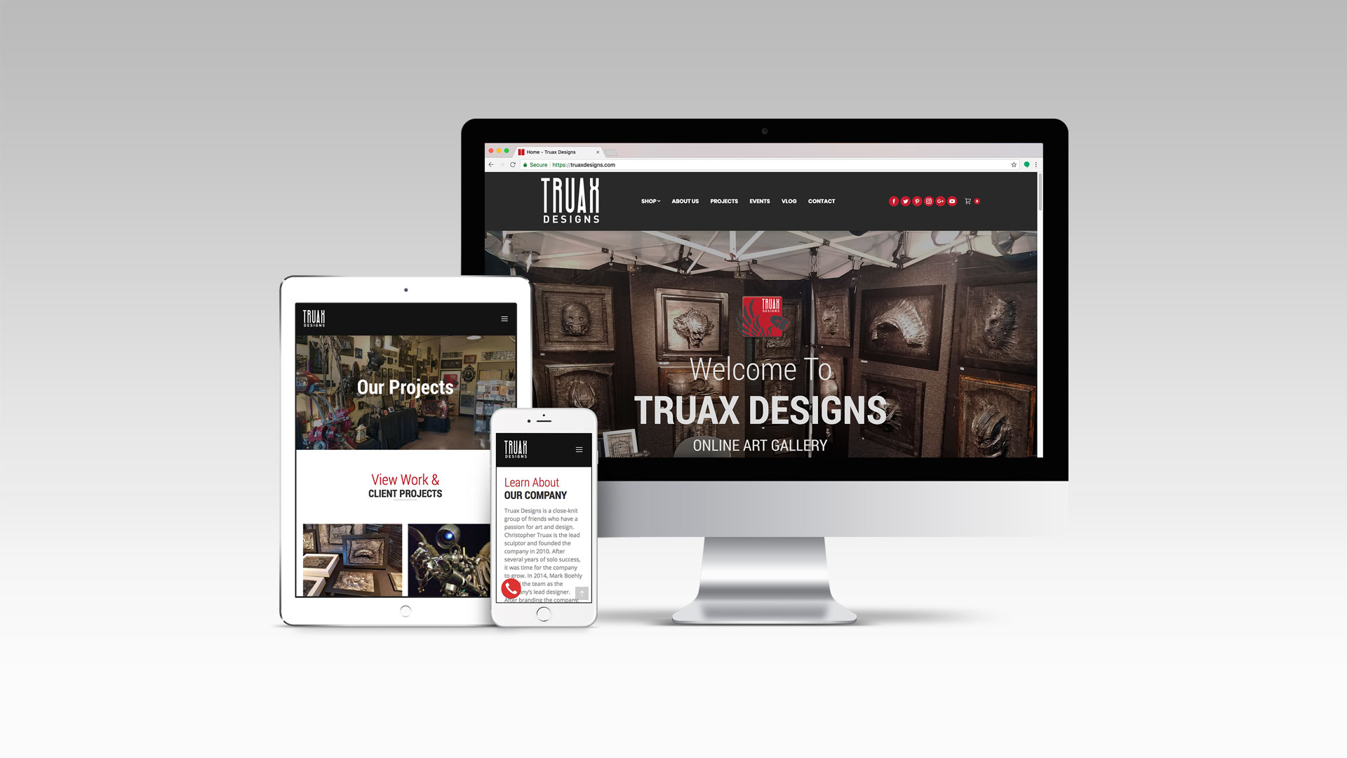 Truax Designs Responsive Website by Graphicsbyte