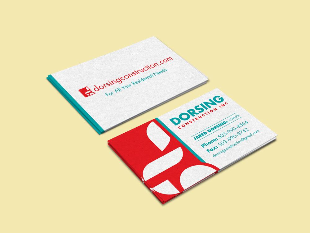 Dorsing Construction Business Cards Graphics Byte