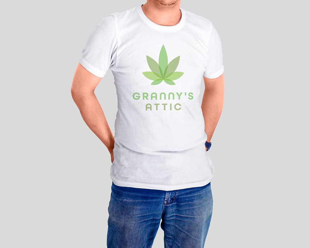 Grannys Attic Cannabis White Shirt by Graphicsbyte