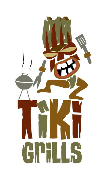 Tiki Grills Logo by Graphicsbyte aka Mark Boehly