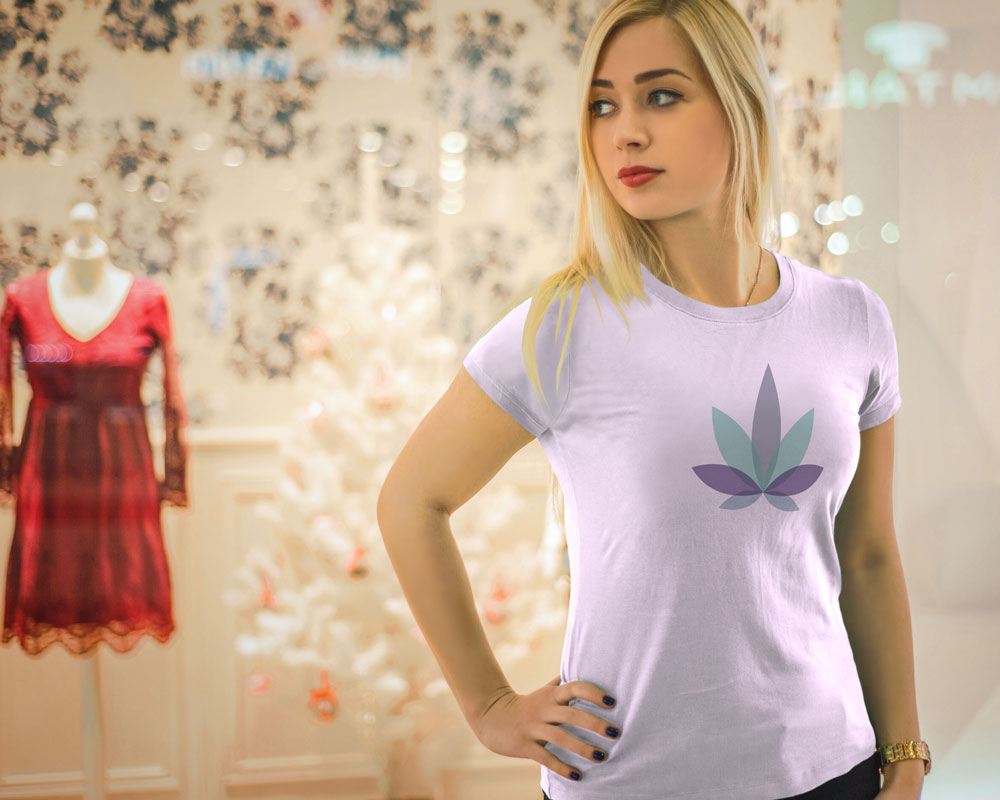 Womans Cannabis Purple Kush t shirt Graphicsbyte Creative Media Mark Boehly