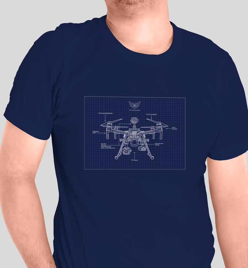 Everdrone Blueprint Shirt by Graphicsbyte