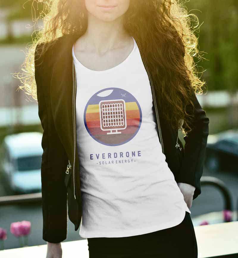 Everdrone Solar T-Shirt by Graphicsbyte