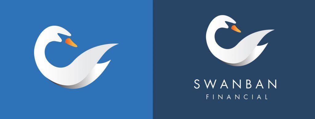 Swanban Financial Logo Graphicsbyte Creative Media