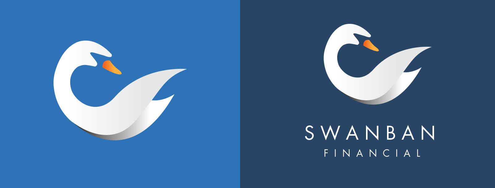 Swanban Financial Logo Graphicsbyte Creative Media
