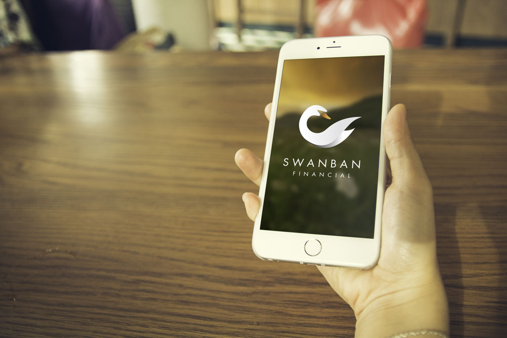 Swanban Financial Mobile Graphicsbyte Creative Media