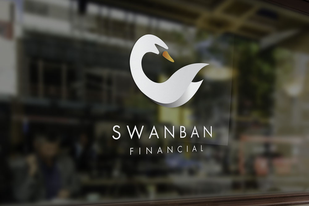 Swanban Financial Window Sign Graphicsbyte Creative Media