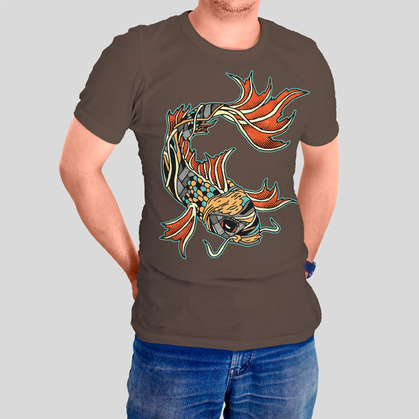 Biomechanical Koi Graphicsbyte t-shirt