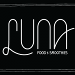 Luna Food & Smoothies at Portland Saturday Market Logo by Graphicsbyte aka Mark Boehly