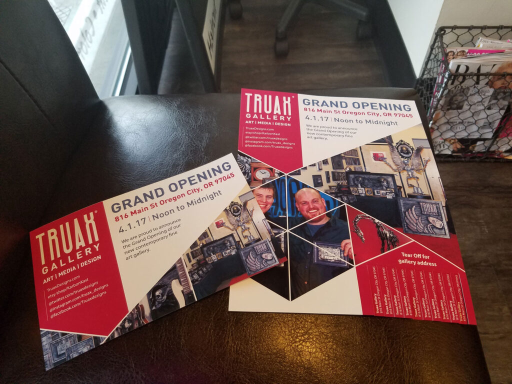 Truax Gallery Flyer designed by Graphicsbyte Creative