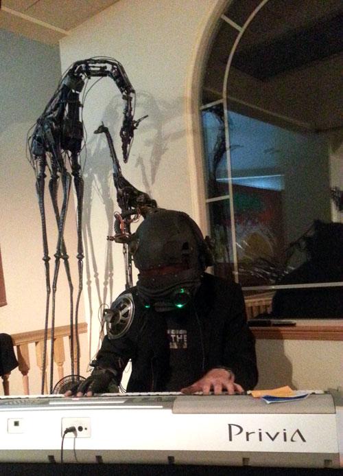 Skyler Null as Cyberpunk DJ Truax Designs
