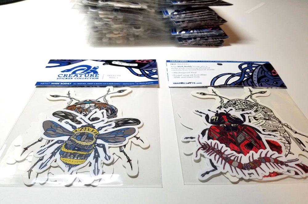 Creature Collection Insect Stickers Graphicsbyte