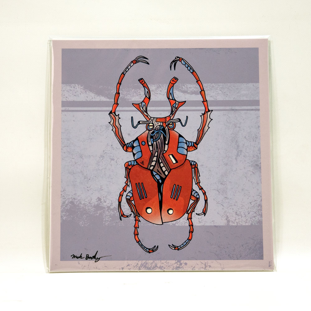 Horned Beetle illustrated by Mark Boehly