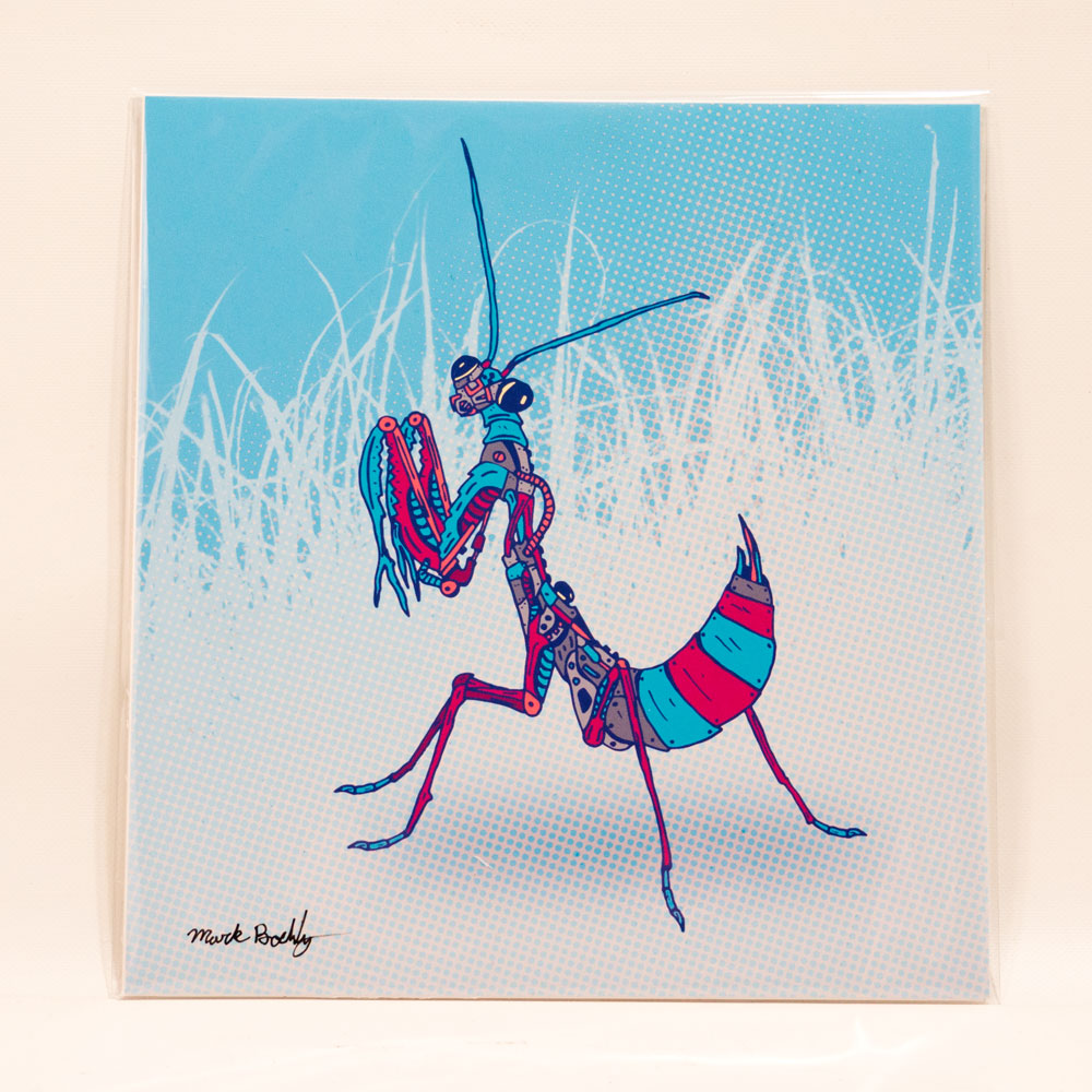 Winter Mantis illustrated by Mark Boehly