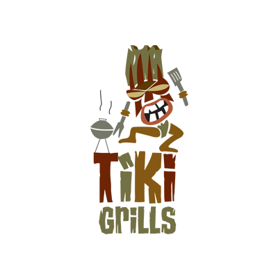 Tiki Grills Logo Designed by Mark Boehly - Graphicsbyte Creative