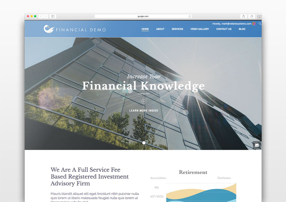 Swan Financial Demo Website by Graphicsbyte