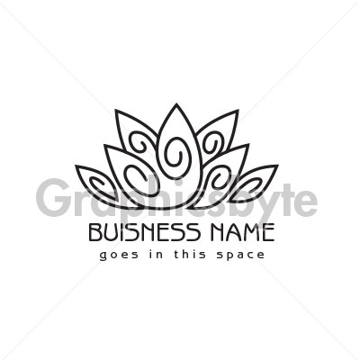 Organic Lotus Logo for sale by Graphicsbyte Creative - Mark Sheldon Boehly