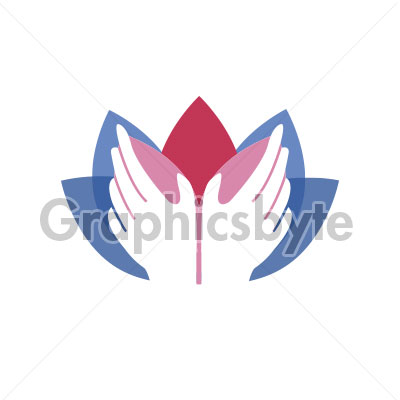 Hand Lotus Massage Logo for sale by Graphicsbyte Creative - Mark Sheldon Boehly