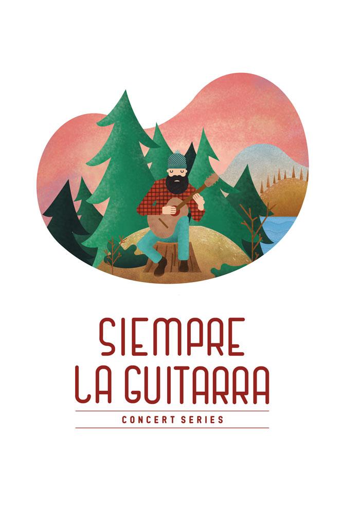 2018–19 Siempre La Guitrarra Alternative Poster designed by Mark Sheldon Boehly - Graphcisbyte Creative