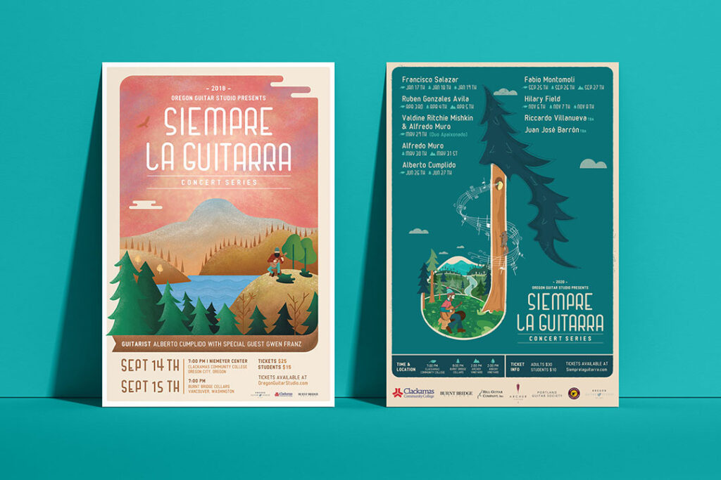 Siempre La Guitarra Posters designed by Mark Sheldon Boehly from Graphicsbyte Creative