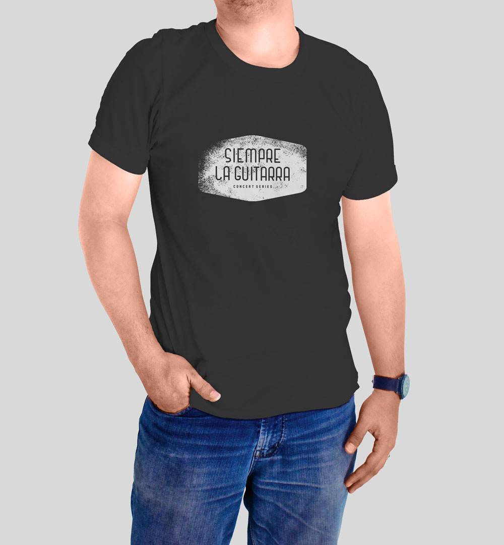 Black Siempre La Guitarra T-Shirt by Graphicsbyte