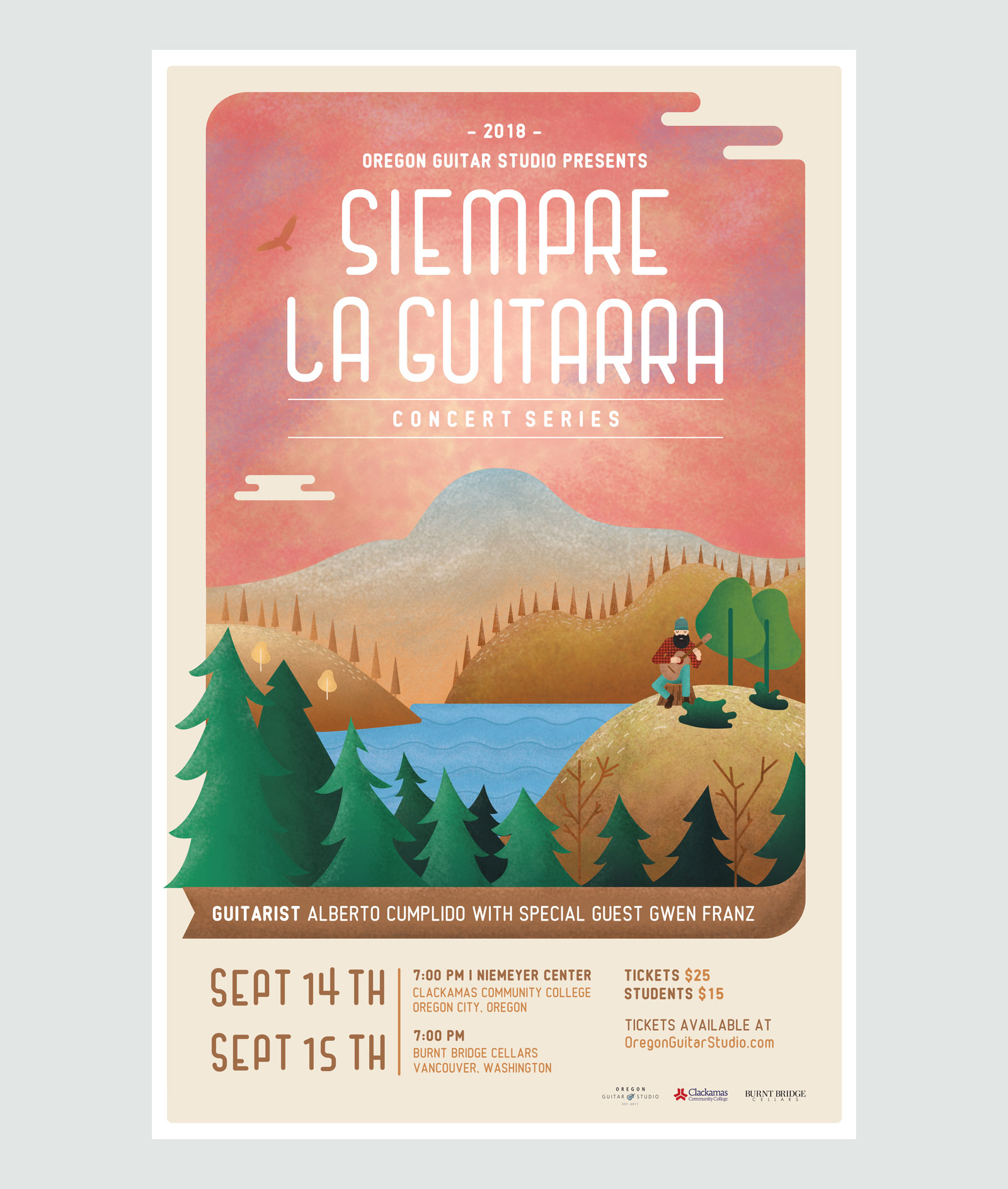 Siempre La Guitarra Event Poster by Graphicsbyte