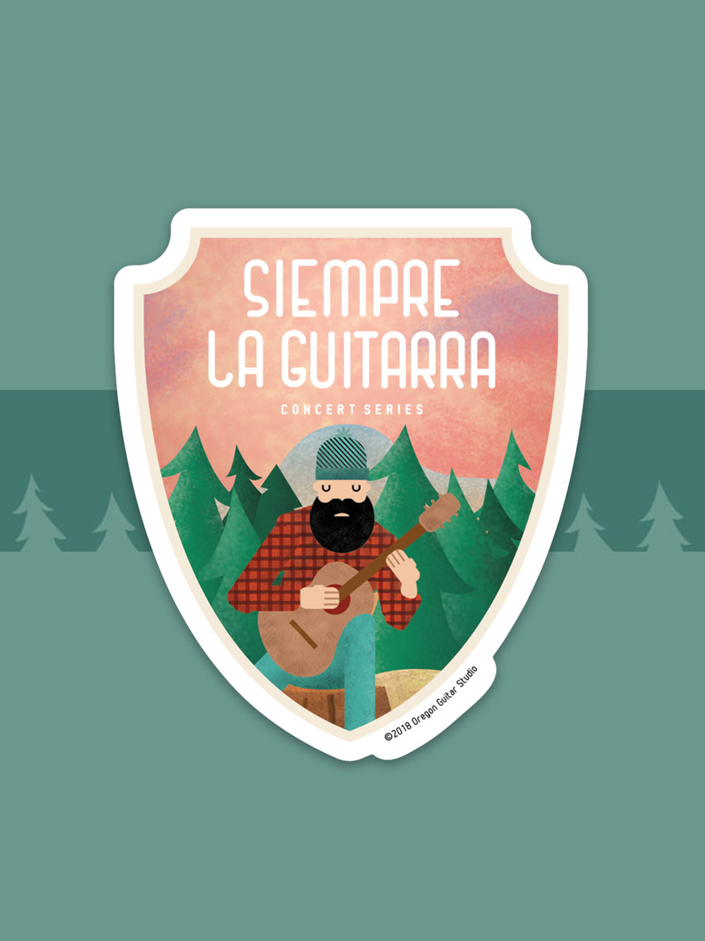 Siempre La Guitarra Event Sticker by Graphicsbyte