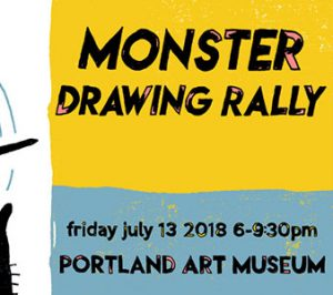 Monster Drawing Rally at Portland Art Museum