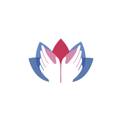 Hand Lotus Massage Logo by Graphicsbyte aka Mark Boehly