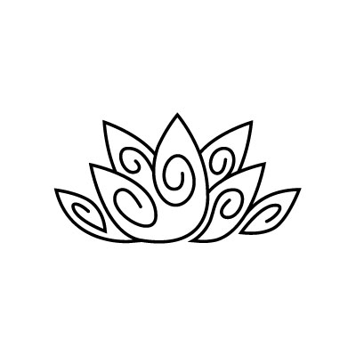Organic Lotus Logo by Graphicsbyte aka Mark Boehly