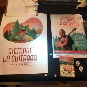 Siempre La Guitarra Event Posters and Pick Packs featuring Alfredo Muro