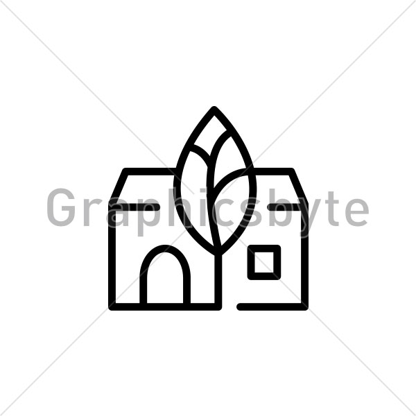 Black Tree House Logo by Graphicsbyte