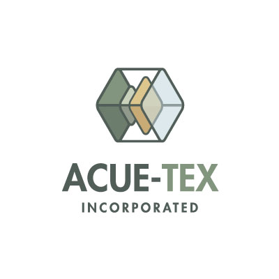 AcueTex Inc Logo Designed by Mark Boehly - Graphicsbyte Creative