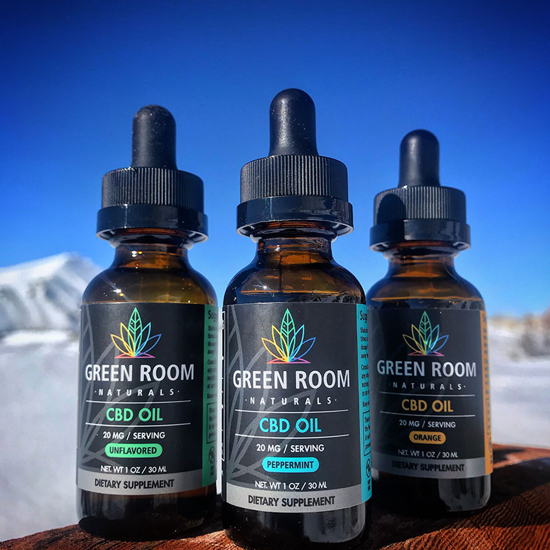 Green Room Naturals CBD Oil Package designed by Mark Boehly - Graphicsbyte Creative