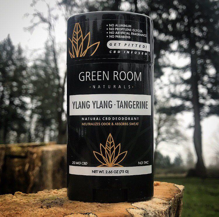 Yang Lang Tangerine CBD Deodorant by Green Room Naturals
