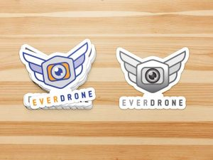 Everdrone Sticker Branding by Graphicsbyte Creative - Mark Boehly