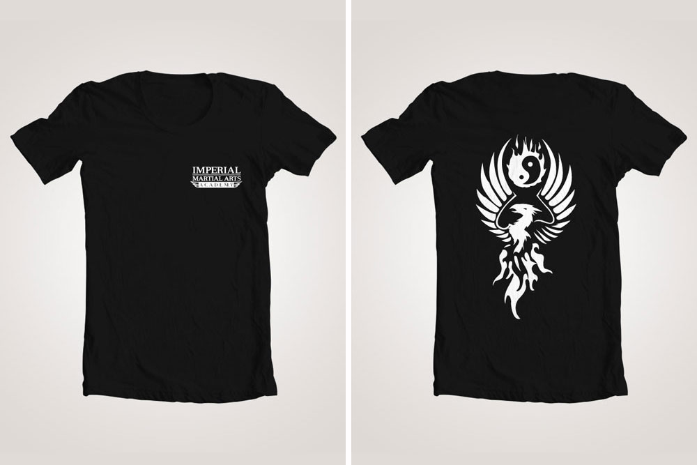 Imperial Martial Arts Academy product design by Graphicsbyte Creative - Mark Boehly