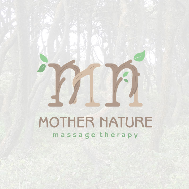Mother Nature Massage Therapy Brand design by Graphicsbyte Creative - Mark Boehly