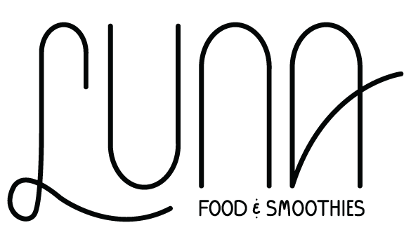 Luna Food & Smoothies - Portland Saturday Market - Logo designed by Graphicsbyte Creative - Mark Boehly