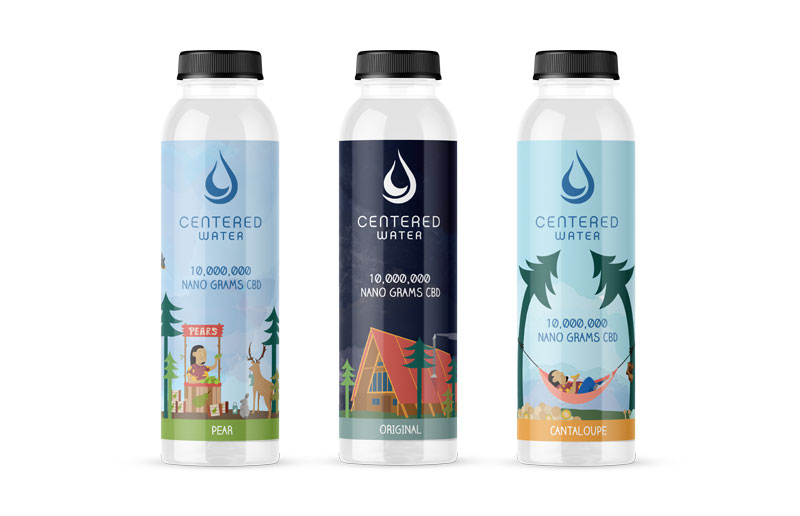 CBD Centered Water Label Design by Graphicsbyte Creative - Mark Sheldon Boehly