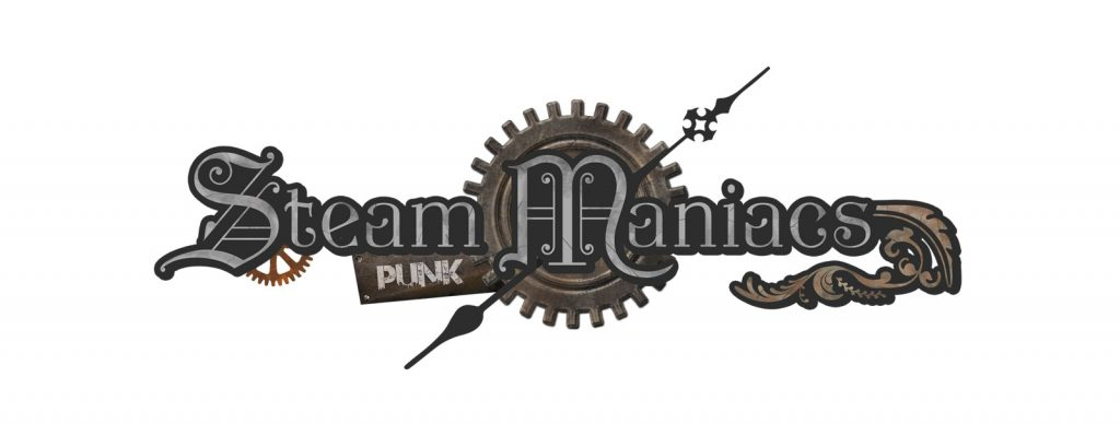 Steampunk Maniacs Logo designed by Graphicsbyte Creative - Mark Boehly