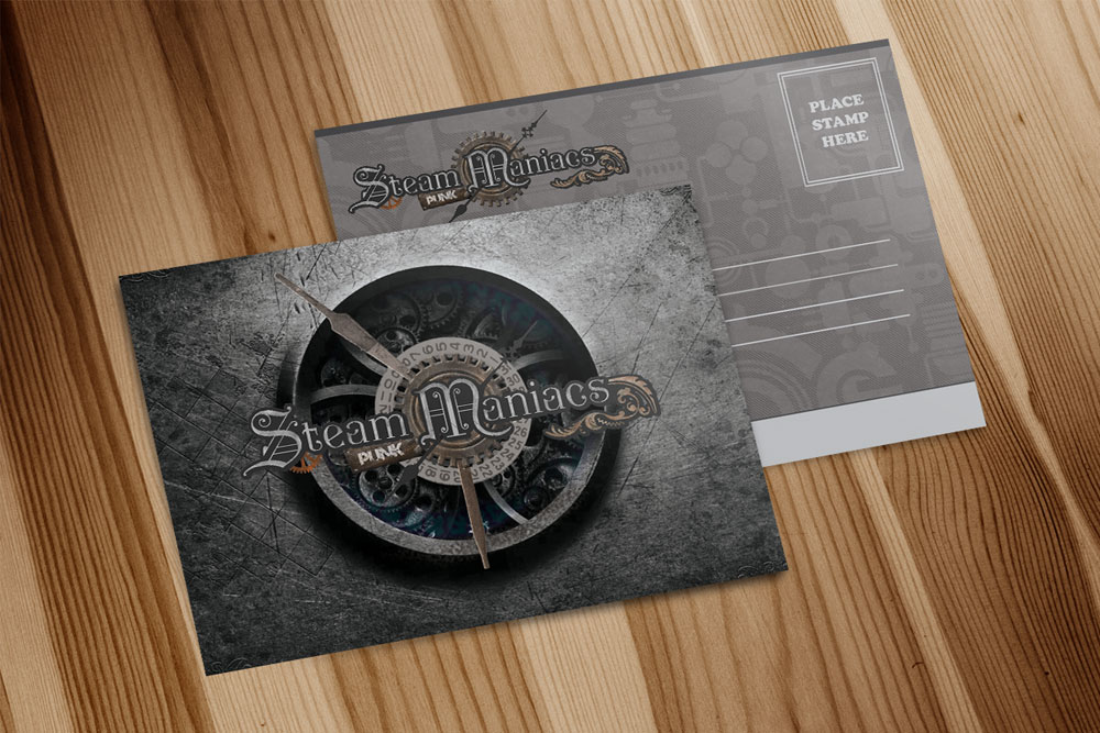 Steampunk Maniacs Post Cards designed by Graphicsbyte Creative - Mark Boehly