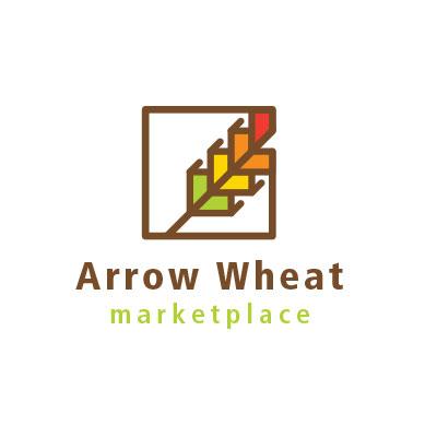 Arrow Wheat Marketplace logo designed by Mark Sheldon Boehly - Graphicsbyte Creative