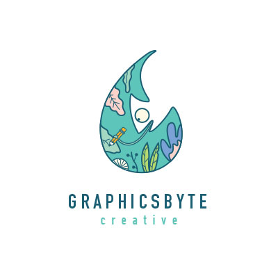 Graphicsbyte Creative logo designed by Mark Boehly